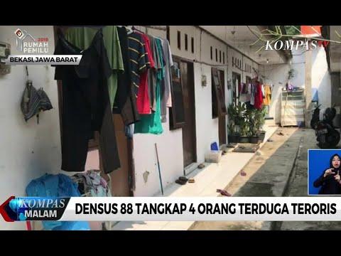 Densus 88 Tangkap 4 Orang Terduga Teroris