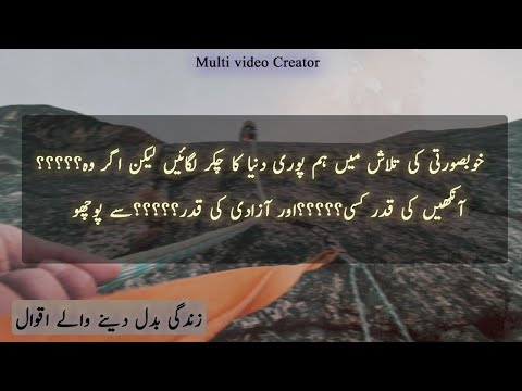 Quotes about life | Golden Words | Whatsapp Status Video | Islamic Urdu Quotes