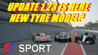 GT Sport Update 1.23 New Tyre Model Cars And Amazing New Track