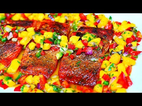 Easy Seared Salmon with Mango Salsa Recipe
