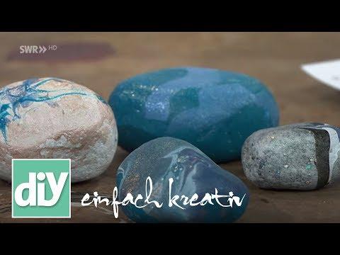 Marmorierte Kieselsteine | DIY einfach kreativ