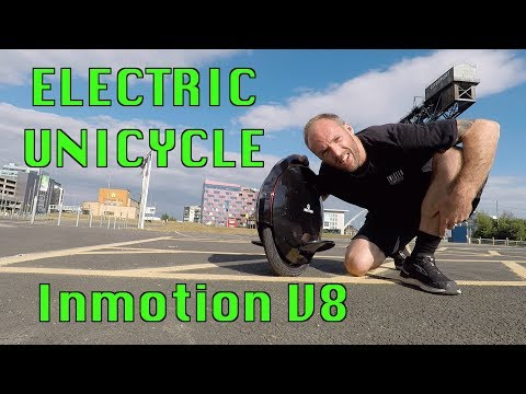 FIRST DAY ON THE NEW ELECTRIC UNICYCLE – INMOTION V8 UNBOXING