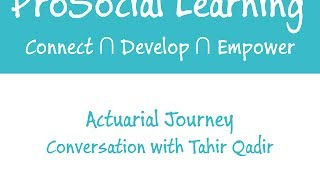 Life as a Pension Actuarial Consultant - Tahir shares his work experience on Actuarial Journey