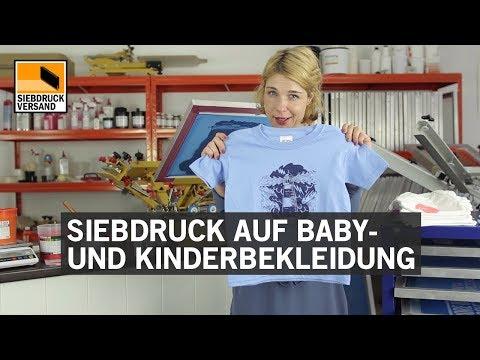 Siebdruck auf Kinder- und Babybekleidung / Textildruck