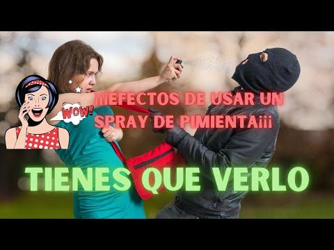 Efectos del spray de pimienta de defensa personal
