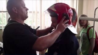 preview picture of video 'Wizyta w mrągowskiej Państwowej Straży Pożarnej'
