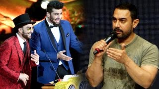 Aamir Khans ANGRY Reaction To Ranver Singh & Arjun Kapoor Making Fun At IIFA 2015