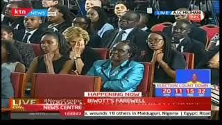 Kiprono Kittony speaks during Nicholas Biwott's funeral service