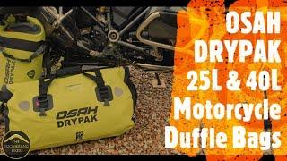 OSAH DRYPAK, 25L & 40L Motorcycle Duffle Bags - Review, Install & Hosepipe Test!