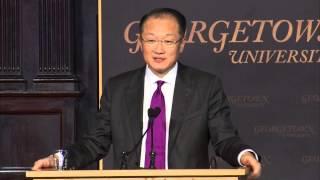 World Bank President, Dr. Jim Yong Kim, Speaks at Georgetown