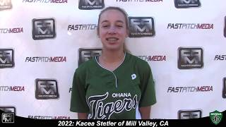 2022 Kacea Stetler Second Base and Outfield Softball Skills Video