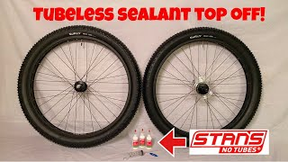 STANS NoTubes Sealant Top Off | Quick and Easy