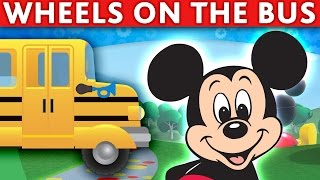 WHEELS ON THE BUS SONG Mickey Mouse Donald Minnie Disney Goofy