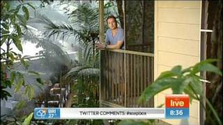 Grant Denyer and the Seven Sunrise crew crossed live from the Daintree and experienced Bungy jumping and Rainforest Swing
