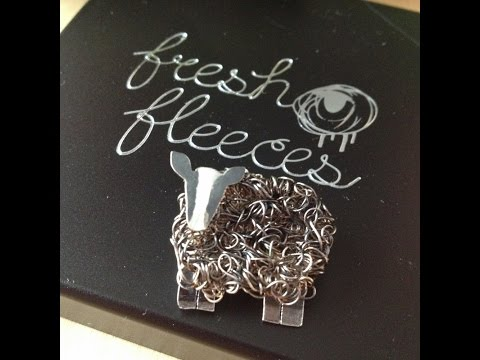 REVIEW: Zwartbles Silver Brooch by Fresh Fleeces