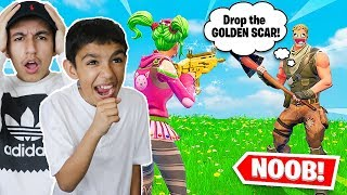 I Said Yes To Everything My Little Brother Said For An Entire Fortnite Game! Hilarious!