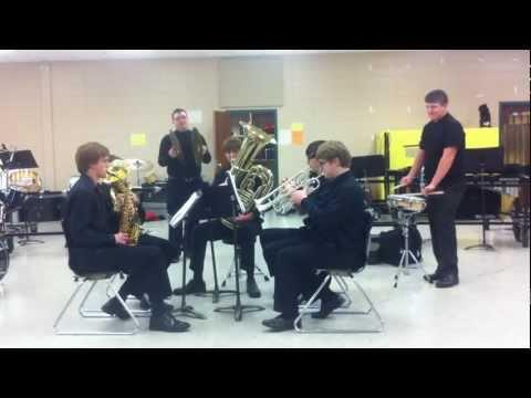 Tech Rebel Brass Ensemble performing the National Anthem