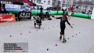 preview picture of video 'Final Freestyle Slalom Woman - Battle Le Havre 2013 (LHSKONTEST V)'