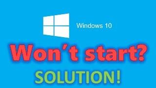How to fix Windows 10 start-up problems - Blackscreen, Bootloop, Infinite Loading [HD 60FPS]