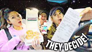 Letting The Person In Front Of Me Decide What I Eat At Krispy Kreme!