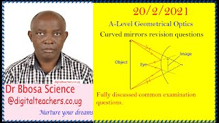 Concave and convex mirror revision questions