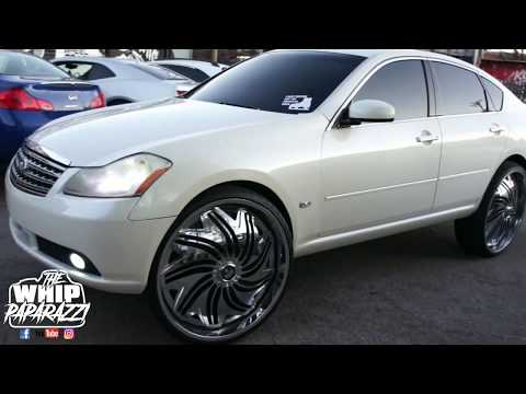 "Infiniti M35x on 28"" Davin Twisted Wheels"