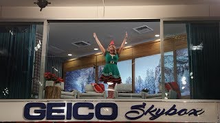 It's a Chipmunk Christmas in Ellen's GEICO Skybox