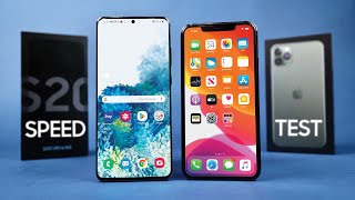 Samsung Galaxy S20 Ultra vs Apple iPhone 11 Pro Max Speed Test!