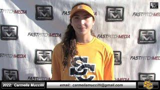 2022 Carmella Muccilli  3.88 GPA Power Hitter, Athletic Outfield, 3rd Base Skills Video - Ca Suncats