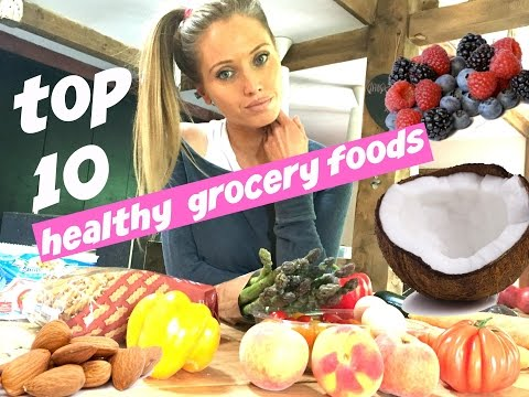 Video HEALTHY EATING GROCERY SHOPPING LIST - nutrition tips and  foods that make losing weight easy