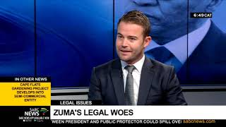 """Now, what a day it was the for the ANC Tuesday. Legal matters involving President Cyril Ramaphosa and former President Jacob Zuma were heard in different courts.   The Pietermaritzburg High Court issued an arrest warrant for Zuma which will be stayed until his next court appearance in May. While Zuma's lawyer did provide a medical note for his client's absence, Judge Dhaya Pillay was not convinced.   Meanwhile, at the High Court in Pretoria, President Ramaphosa's legal team argued that the Public Protector's so-called """"Bosasa report"""" should be overturned. Joining us in studio is Ulrich Roux, a legal expert to talk about the court cases.    For more news, visit sabcnews.com and also #SABCNews on Social Media."""