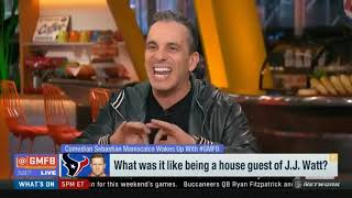 Sebastian Maniscalco on What was it like being a house guest of J.J. Watt?