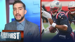 Nick Wright talks Patriots win over Raiders despite subpar play from Cam   NFL   FIRST THINGS FIRST