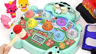 Baby Shark VS Pinkfong! Who will win the game of catching the mole?   PinkyPopTOY