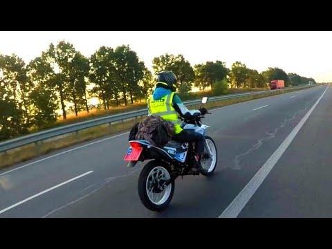 Обкатка нового эндуро Spark SP250D-1. Выезжаем из Киева по пробкам!