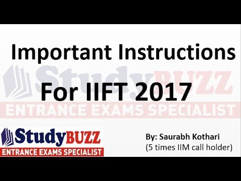 Important instructions before taking IIFT exam 2017