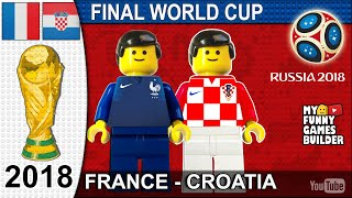 World Cup Final 2018 • France vs Croatia 4-2 • Moscow 15/07/2018 All Goals Highlights Lego Football