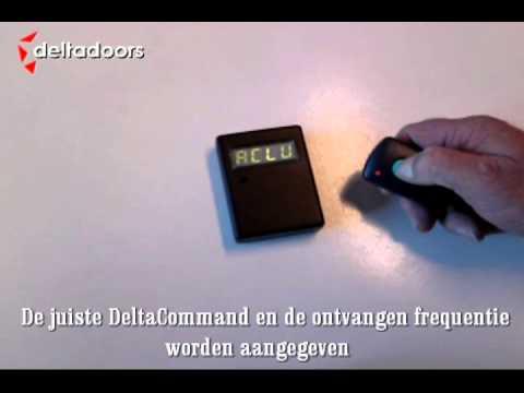 DeltaScanner de frequentie scanner voor DeltaCommand afstandsbedieningen