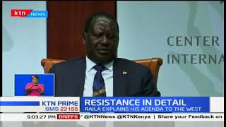 Raila Odinga says the NASA resistance is the only hope for peace
