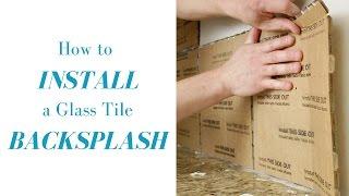 How to Install a Glass Tile Mosaic Backsplash