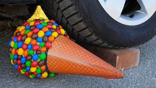 Crushing Crunchy & Soft Things by Car! EXPERIMENT CAR VS M&M ICECREAM TOY (Compilation)