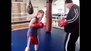 Тренировка -Бокс юноши .Постановка удара.