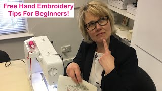 Free-machine Embroidery Tips for Beginners