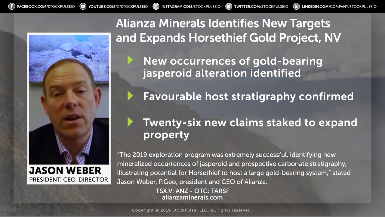 Alianza Minerals Identifies New Targets, Expands Horsethief Gold Project