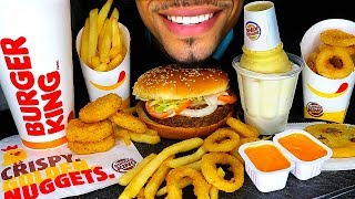 ASMR BURGER KING IMPOSSIBLE BURGER WHOPPER MUKBANG | CHICKEN NUGGETS ICE CREAM CONE EATING SHOW