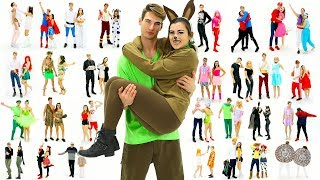 30 Last-Minute COUPLE Halloween Costume Ideas! DIY Costumes!