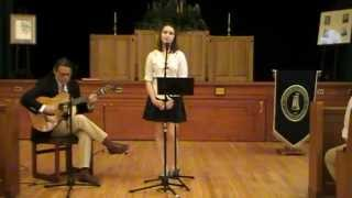 "Flannery '13 performs ""Wysteria,"" by Dan Fogelberg"