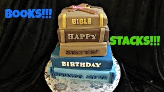 How To Make A Book Stack Fondant Cake