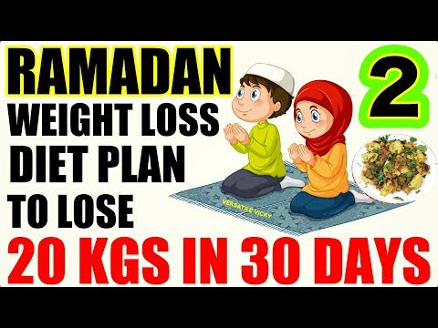 Ramadan Diet Plan To Lose Weight | Ramzan/Ramadan Meal Plan For Weight Loss | Lose 20 Kgs In 1 Month