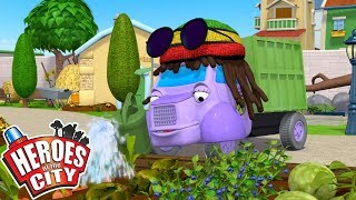 Heroes of the City - The Gardener | Cartoons For Kids | Vehicles For Kids | Car Cartoons